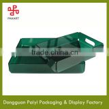 Excellent dark blue square acrylic tray manufacturer