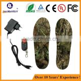Electric heated insoles battery shoes insole rechargeable warm heated insoles with lithium battery