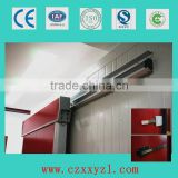 100mm door leaf, 0.5mm stainless steel cold storage room slide door with warmer/heater strip