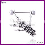 Skeleton Body Piercing Sexy Women Nipple Jewelry Stainless Steel Skull Indian Nipple Ring