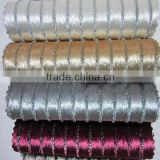Wholesale Dubai fitting room velvet curtain drapery with silver stripe