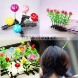 Wholesale Kids Hair Accessories Plants Hairpins Lovely Metal Duckbill Clip Fancy Hair Clips