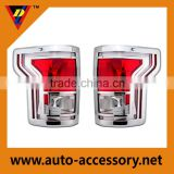 Chrome aftermarket car body parts tail light cover for Ford f150 2014 2015