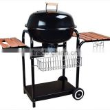 Summer season Charcoal BBQ grill BBQ with basket,hook,wooden tray