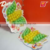 Dafa corn shape colorful sweet puff candy