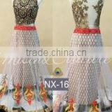 Efficacious Off White Net Designer Lehenga Choli/Online shopping for Indian lengha choli