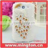 Crystal cell phone cover rhinestone for Samsung s3