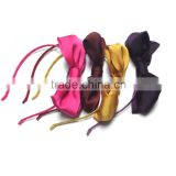 Elegant silk bow tie hair band and headband with ribbon and fabric covered heaband for lady and woman party gift