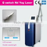 Telangiectasis Treatment Q Switched Nd Yag 1064nm Laser Machine/double Lamp And Rod Nd Yag Machine For Effective Tattoo Removal 1500mj