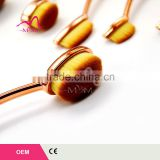 10pcs Free Sample Wholesale Price Golf oval Makeup Brushes Toothbrush Oval Makeup Brush Set