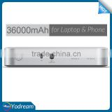 Factory Price External Kayo Power Bank 36000mAh 133Wh 12~16.8V li-ion battery powerbank for Xiaomi Huawei HP DELL Lenovo Laptop