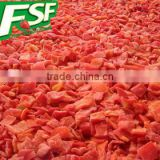 New crop dices&sliced frozen red pepper