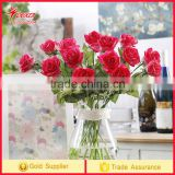 High Quality rose Flower Artificial silk flower Real Touch fragrance PU Factory wholesale