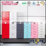 Cheap metal storage movable file cabinet movable drawer cabinet 6 drawer mobile pedestal cabinet