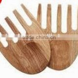 2015 hot selling kitchen bamboo salad hand