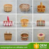 2017 New Fair hot sale handmade wicker fishing creel bamboo basket