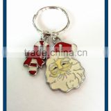 2015 Fashion Santa Claus Keychain enamel Santa Claus mustache and hats