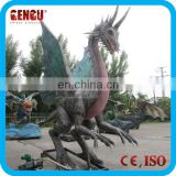 Outdoor Theme Park High Simulation Dragon Statues