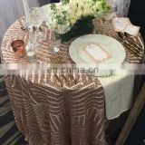 sequin fabric rose gold tablecloths online