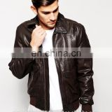 Men Leather Jacket / Genuine Leather Jacket / Sheepskin Leather Jacket Bomber Jacket