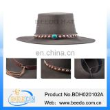Brown Wool felt cowboy hat with leather band and tassel