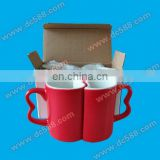 lovers couple sublimation color changing magic mugs
