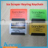 Recycled Plastic Square Ice Scraper keychain for promotional