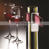 Felt Fabric Wine Drip Catcher With Stainless Steel Clip