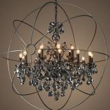 K9 crystal Pendant Light & iron pendant lamp used for home,villa