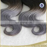 Ombre grey hair two tone ombre silver hair ombre brazilian human hair two tone ombre hair extensions gray human hair