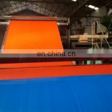 Truck pe tarpaulin in bales poly tarp with pp rope in hem