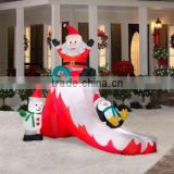Factory custom hot sale lovely Merry Christmas decorative oxford cloth inflatable Christmas santa