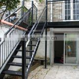 exterior metal stair/wrought iron straight stairs/outdoor straight staircase                                                                         Quality Choice
