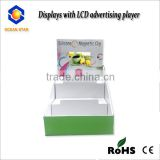 3 Shelves Desktop Video Acrylic Display Stand for Cosmetics video display box