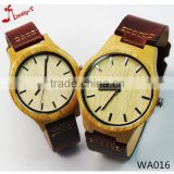 pair 100% natural Bamboo Watch New Arrival Women Wristwatches High Quality Vintage Style for couples