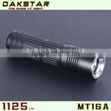 DAKSTAR MT16A CREE XML T6 LED 1125LM 26650 Battery High Power Police Outdoor Flashlight