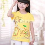 Korean fashion kids girls clothes/girls apparel/printing machine on clothes china supplier