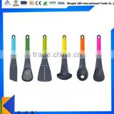 Food grade rainbow handle nylon Kitchen utensil set/cooking utensil