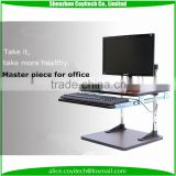 Office use furniture height adjustable standing computer desk adjustable portable