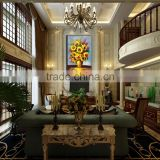 01-045 Large Size Canvas Printing Paint Flower Painting For Living Room OR Bedroom For Decoration