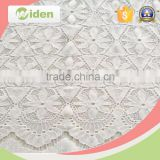 Cotton and nylon white cord lace fabric for women clothing                                                                                                         Supplier's Choice
