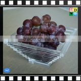 Custom design clear acrylic serving decorative food/candy/fruits trays for hotel/home party