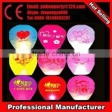 Cheering kids lovely sky lantern wish balloons