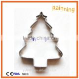 New Products Snow Covered Christmas Tree Shaped Cookie Cutter