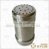stainless steel condiment shaker with nonmagnetic
