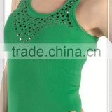 2015 NEW LADIES SEXY POLYESTER NYLON YUGA GLIDING RIVET VEST SHIRT