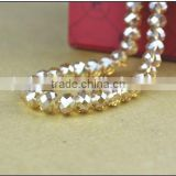 Machine cut crystal beads, Faceted glass beads for jewels