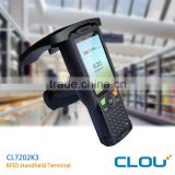 4 inch TFT LCD touch screen uhf rfid handheld reader with 8 meters long range reading