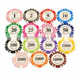 11.5g poker chips/paster poker chips/number stickers poker chips