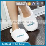 ToBest Hotel Disposable Supplies Wholesale Waffle Disposable Hotel Slipper Custom Embroidery Logo